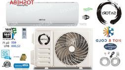 12000 BTU Ductless Air Conditioner, Heat Pump Mini Split 110