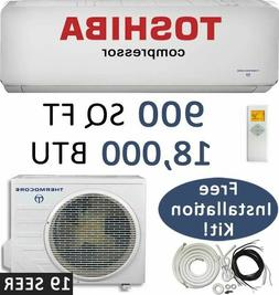19 SEER 18000 BTU Ductless Air Conditioner Heat Pump Mini Sp