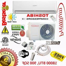 18000 BTU Air Conditioner Mini Split 19 SEER INVERTER AC Duc
