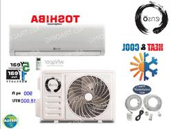18000 BTU Ductless AC Mini Split Heat Pump Air Conditioner I