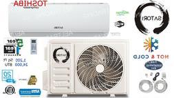 24000 BTU Ductless Air Conditioner, Heat Pump Mini Split 220
