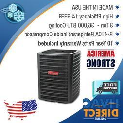 3 Ton 14 SEER Goodman Air Conditioner Condenser - Southweste