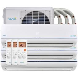 36000 BTU Tri Zone Ductless Mini Split Air Conditioner