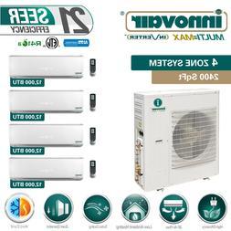 48000 BTU Quad Zone Ductless Mini Split Air Conditioner Heat