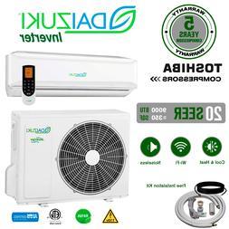 9000 BTU Air Conditioner Mini Split 20 SEER INVERTER AC Duct