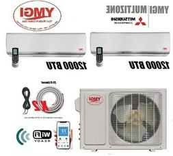 Ductless Mini Split Air conditioner 24000 BTU 2 Ton Heat pum