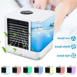 Household LED Air Personal Cooler Mini Air Conditioner Water