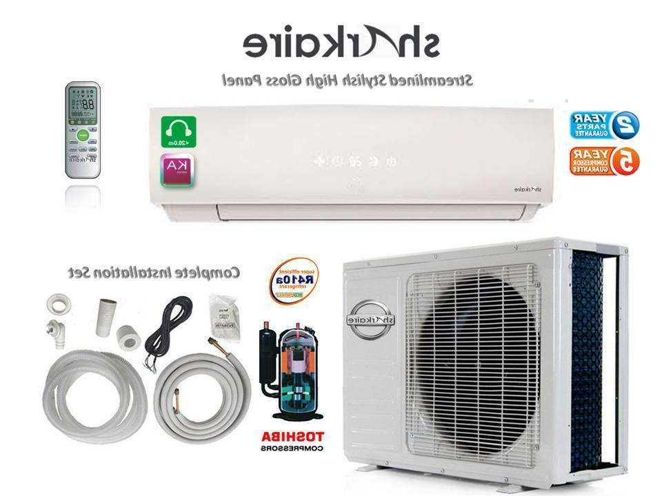 Super Efficient 1 Ton Heat Pump Ductless Mini Split Air Cond