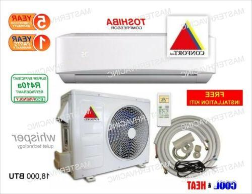 18 000 btu ductless air conditioner heat