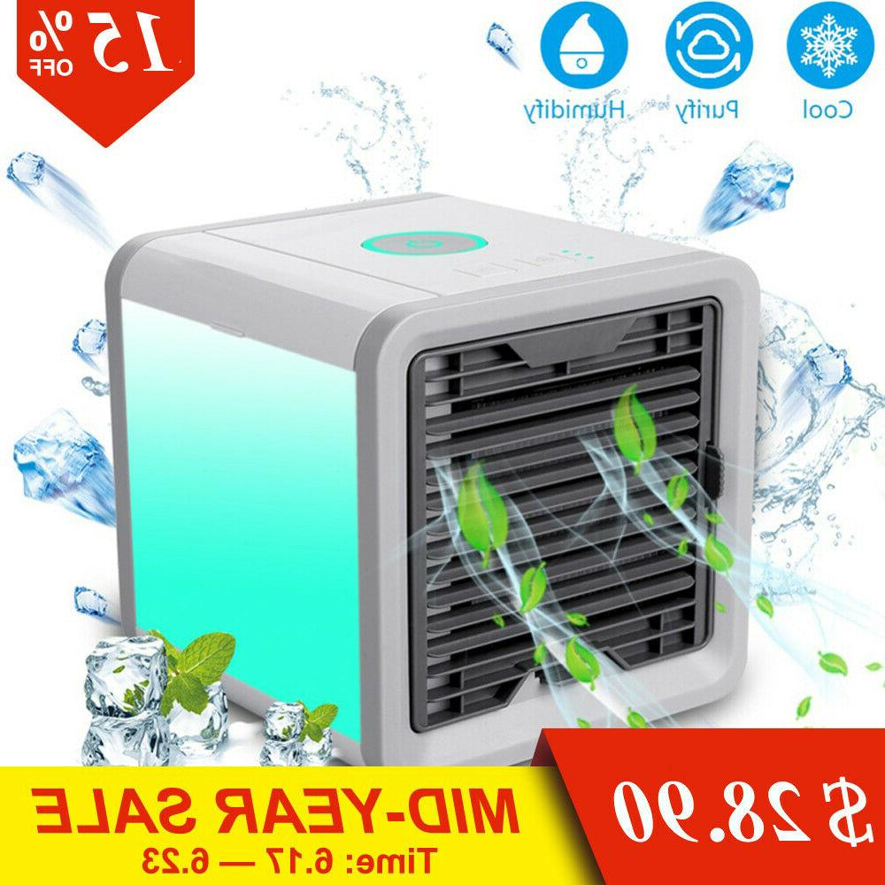 mini usb portable air conditioning humidifier purifier