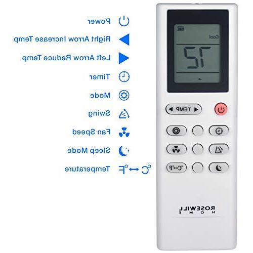 Rosewill 12000 BTU AC Fan & Dehumidifier, 3-in-1 w/Remote Control, Efficient Unit Use, RHPA-18002