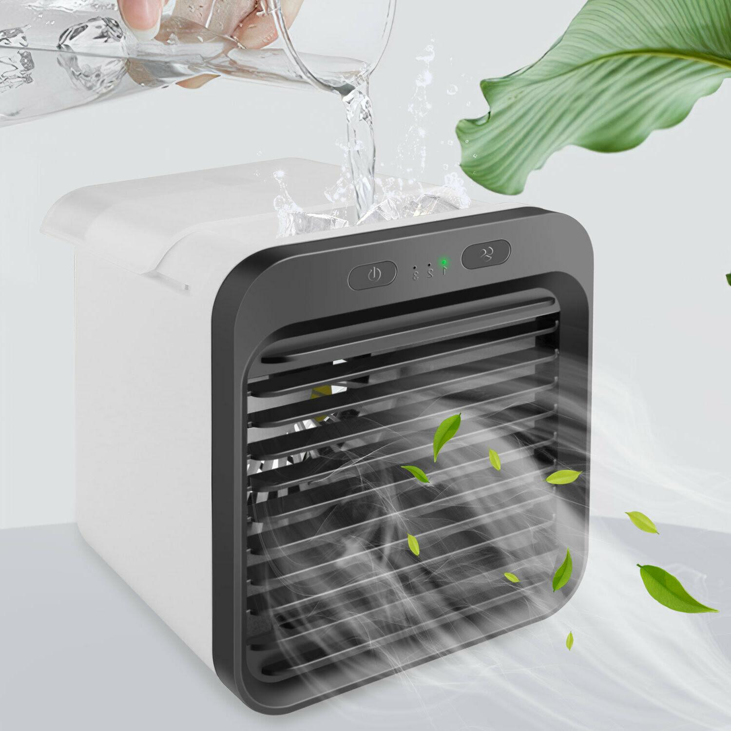 Portable Mini Personal Conditioner Fan Cooler USB Rechargeable