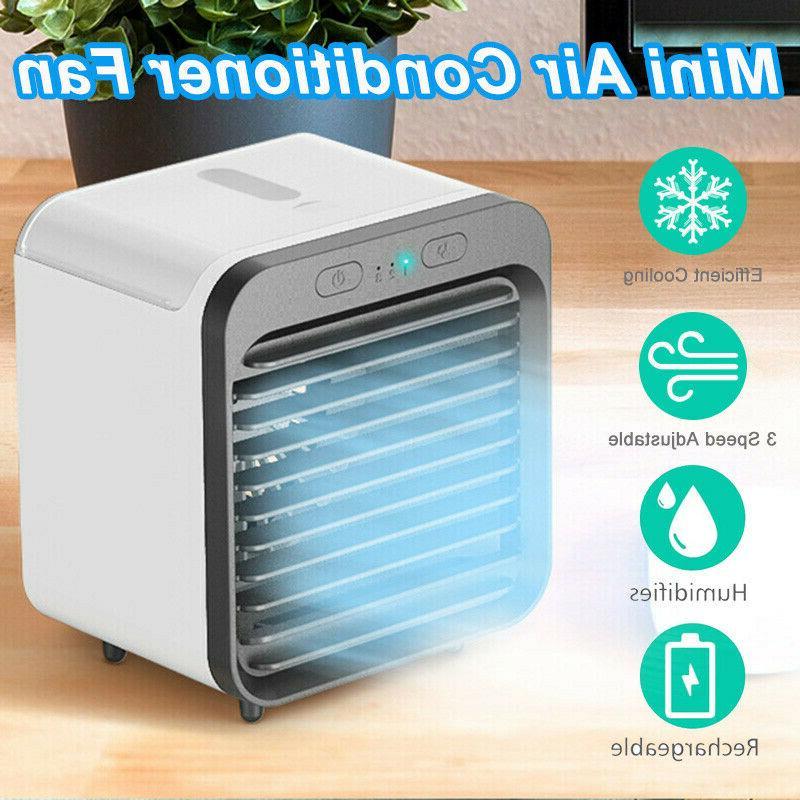 portable mini personal air conditioner desktop fan