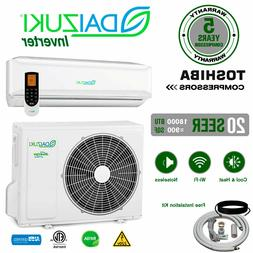 18000 BTU Air Conditioner Mini Split 20 SEER INVERTER AC Duc