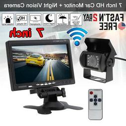 """Wireless IR Rear View Back up Camera Night Vision System+7"""""""