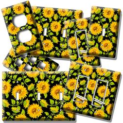SUNFLOWERS FLORAL PATTERN LIGHT SWITCH OUTLET PLATES KITCHEN