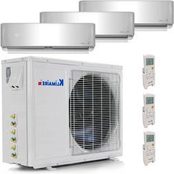 Tri Zone Mini Split Air Conditioner Ductless Multi AC 22 SEE